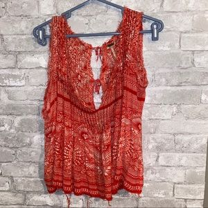 Nwot free people print blouse sz M